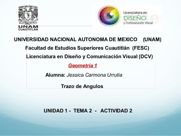 UNIVERSIDAD NACIONAL AUTONOMA DE MEXICO (UNAM) Facultad de Estudios Superiores Cuautitlán (FESC) Licenciatura en Diseño y ...