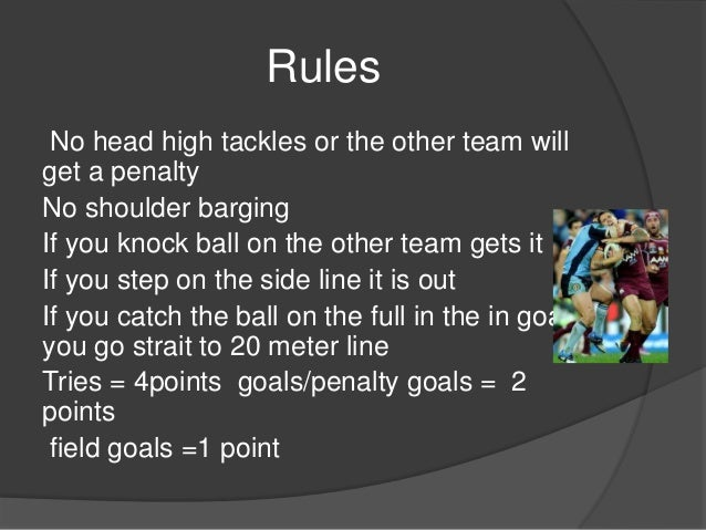 rugby league rules