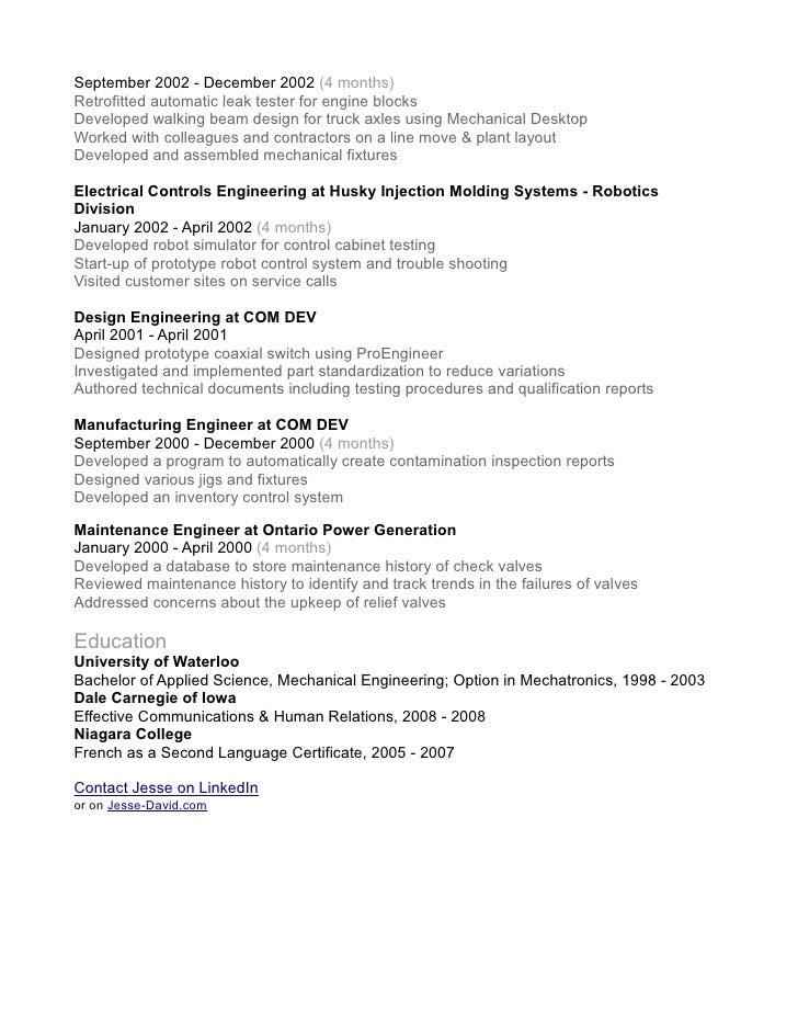 Senior Software Engineer Resume Samples  Engineering Resume Summary