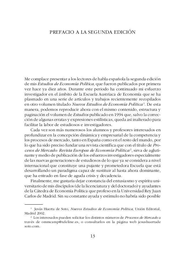 ESTUDIOS DE ECONOMÍA POLÍTICAPREFACIO 13 14 PREFACIO A LA SEGUNDA EDICIÓN Me complace presentar a los lectores de habla es...