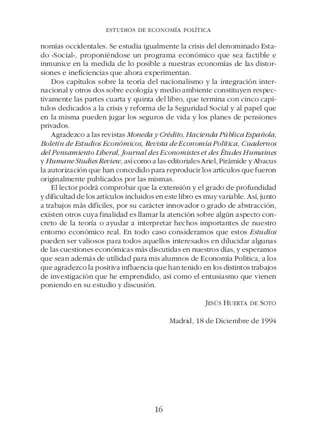 ESTUDIOS DE ECONOMÍA POLÍTICAPREFACIO P R E F A C I O En el presente libro se incluyen la mayor parte de los trabajos suel...
