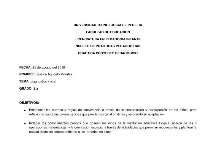UNIVERSIDAD TECNOLOGICA DE PEREIRA<br />FACULTAD DE EDUCACION<br />LICENCIATURA EN PEDAGOGIA INFANTIL<br />NUCLEO DE PRACT...