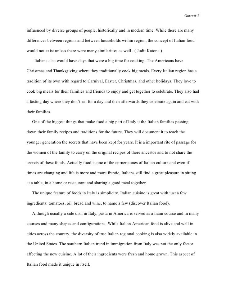 Essay about italy culture