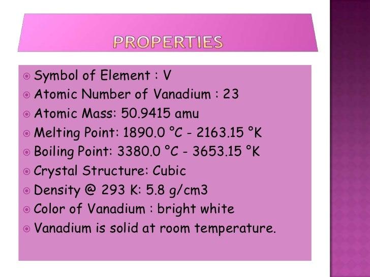 Vanadium Atomic Number Vanadium (Jessica Horn...