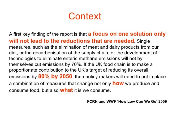Context A first key finding of the report is that  a focus on one solution only will not lead to the reductions that are n...