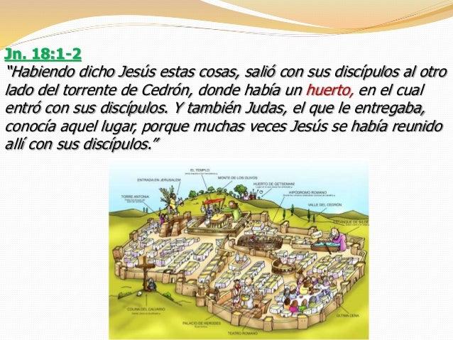 Resultado de imagen para Dicho esto, pasó Jesús con sus discípulos al otro lado del torrente Cedrón