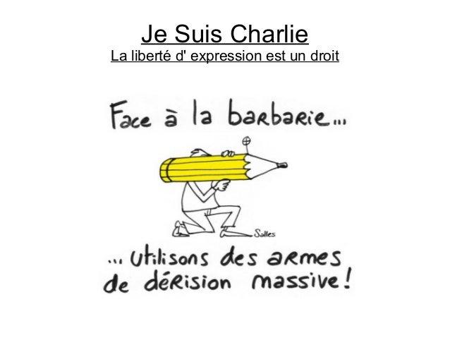 Je Suis Charlie La liberté d' expression est un droit