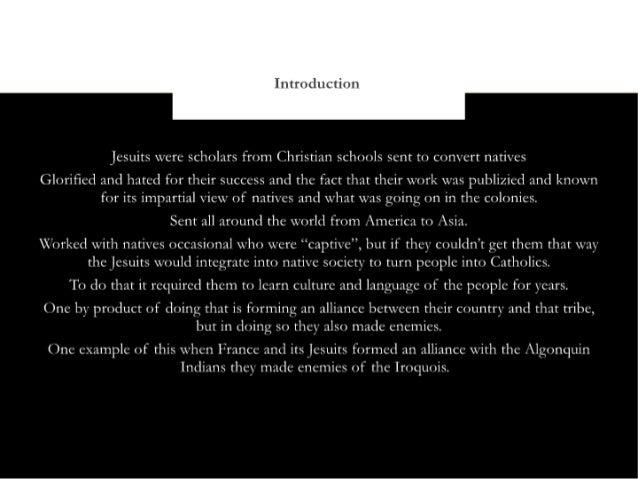 Jesuit relations Slide 2