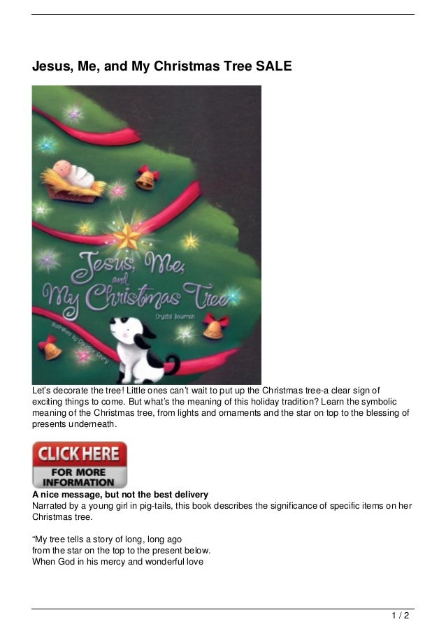 Jesus Me And My Christmas Tree Sale