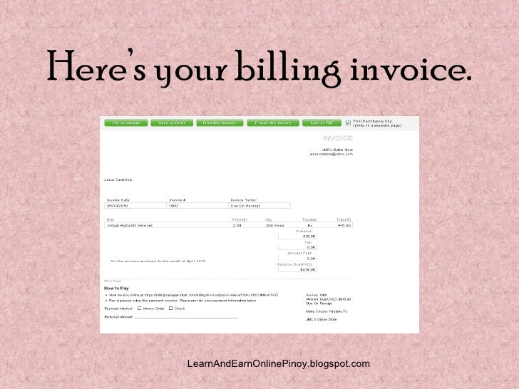 how to make invoice online