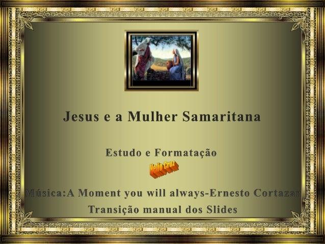 Esta é mais uma linda passagem de Jesus, que é registrada somente por João, no capítulo IV, de seu Evangelho. Para compree...