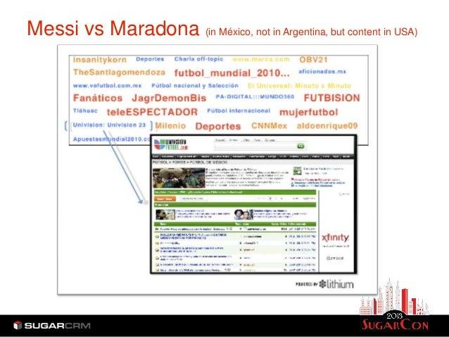Messi vs Maradona (in México, not in Argentina, but content in USA)