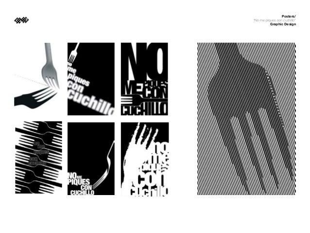 """Posters/""""No me piques con cuchillo""""          Graphic Design"""