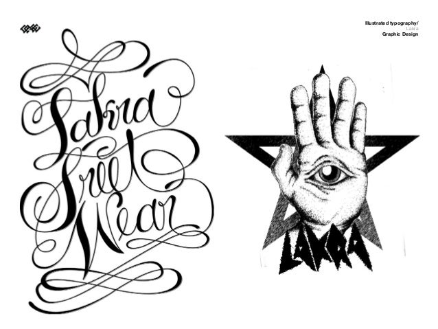 Illustrated typography/                  Lakra         Graphic Design