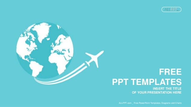Jet airplane travel on earth power point templates widescreen insert the title of your presentation here free ppt templates allppt free powerpoint toneelgroepblik Image collections