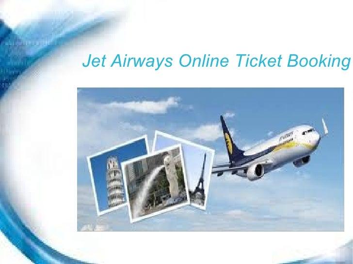 Jet Airways Online Ticket Booking