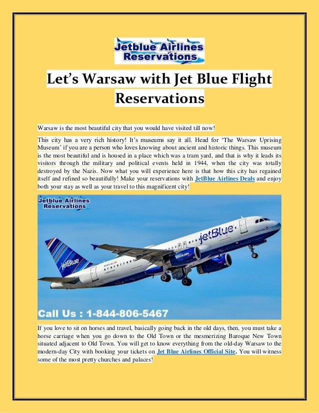 732b5e9b Let's Warsaw with Jet Blue Flight Reservations