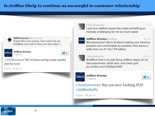 case study of jet blue Jetblue: managing the future in the airline industry, few players have managed  to build a unique brand identity and achieve brand differentiation jetblue.