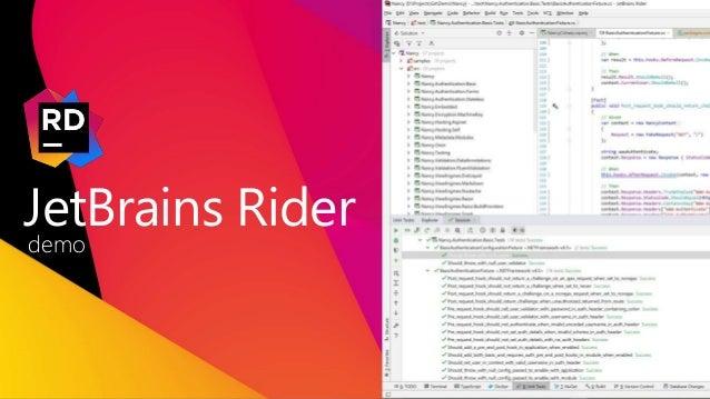 5 JetBrains Rider demo
