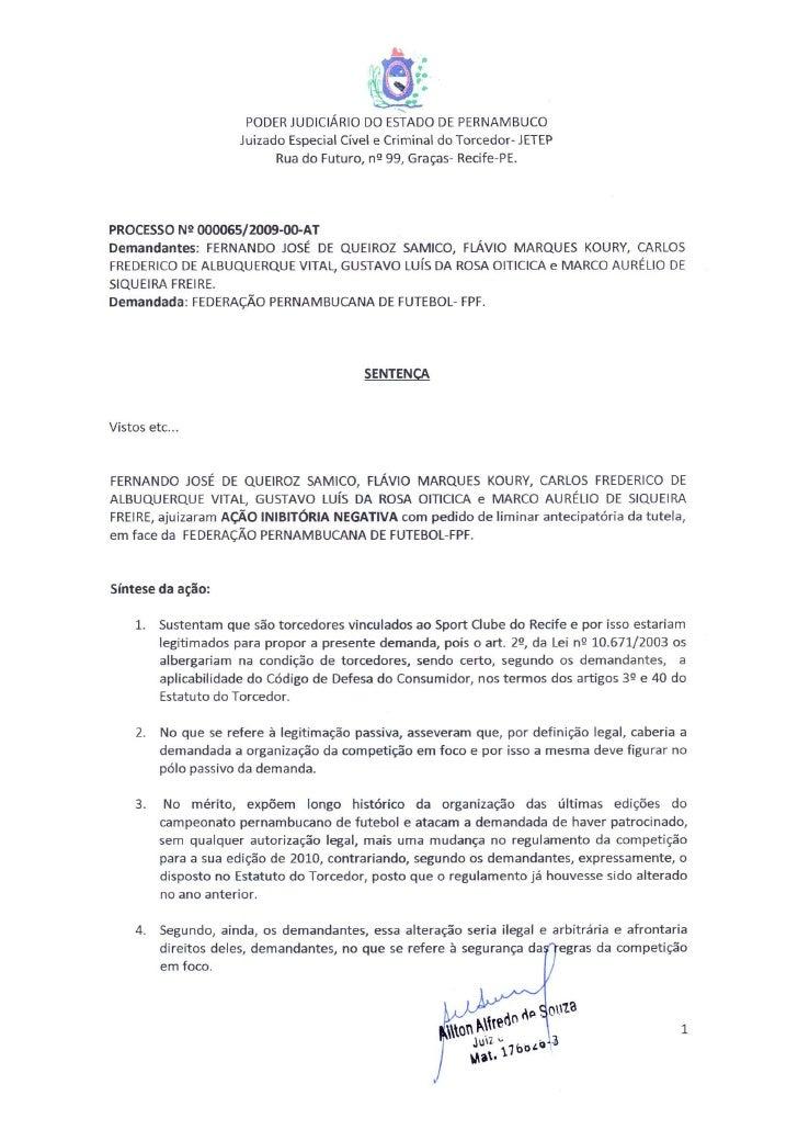 Jetep Arquiva Pedido De Torcedores Do Sport