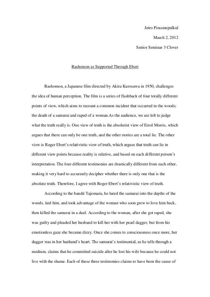 rashomon essay outline of rashomon essay jetros rashomon essay rashomon essay