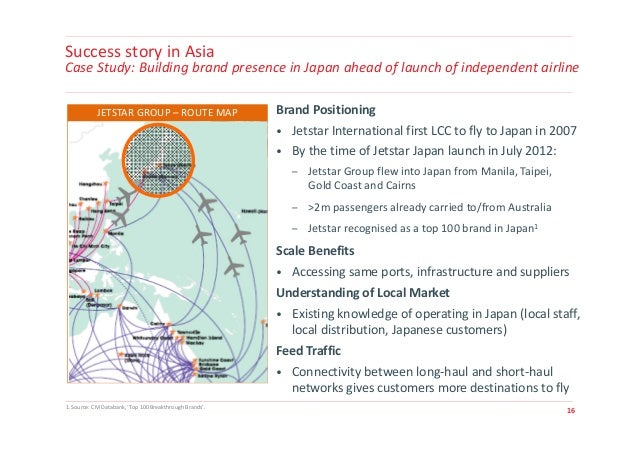 jetstar case study Low-cost carriers market study search this site  case-study: singapore  jetstar asia chose to differentiate itself from their competitors by flying to .