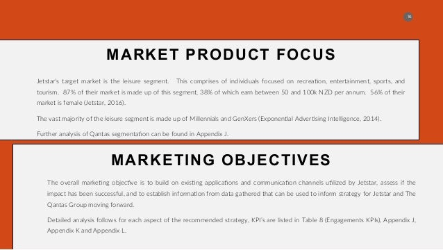 qantas market segmentation Qantas designs products to attract and hold customers from a particular market segment and to do so profitably the generic products of qantas are the provisions of a seat (passenger) or a container (freight.