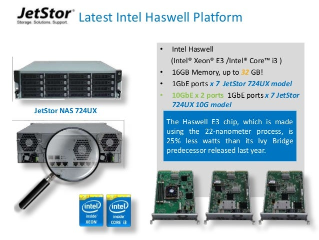 4 Latest Intel Haswell Platform • Intel Haswell (Intel® Xeon® E3 /Intel® Core™ i3 ) • 16GB Memory, up to 32 GB! • 1GbE por...