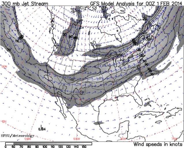 Jet Stream Analysis Spring 2014