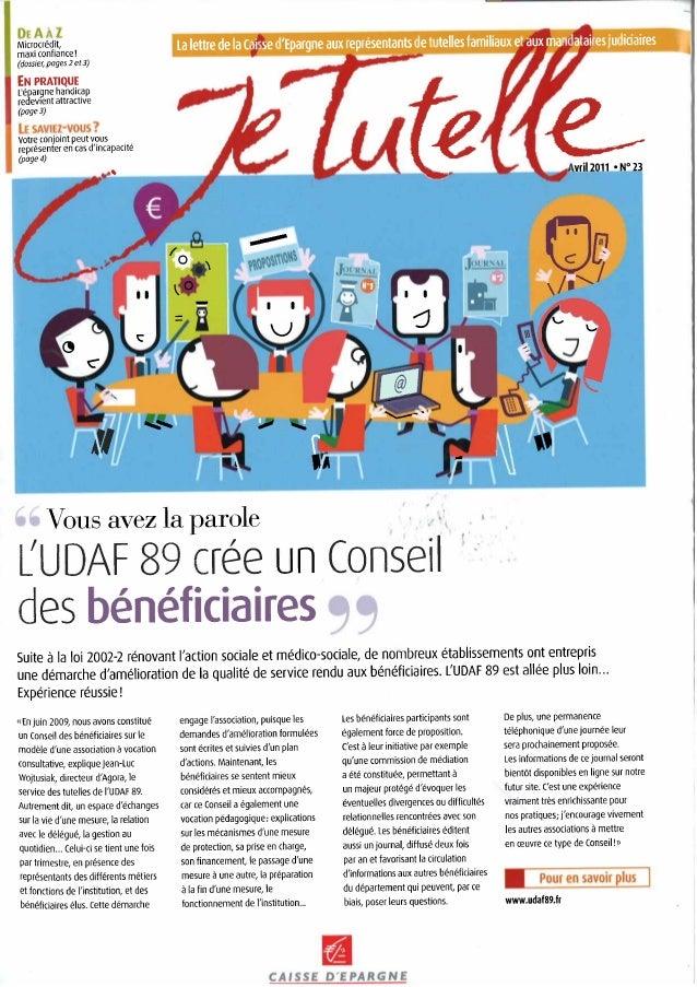 MicrocrØdit, maxi confiance! (dossier, pages 2 et 3) EN PRATIQUE L'Øpargne handicap redevient attractive (page 3) Votre co...