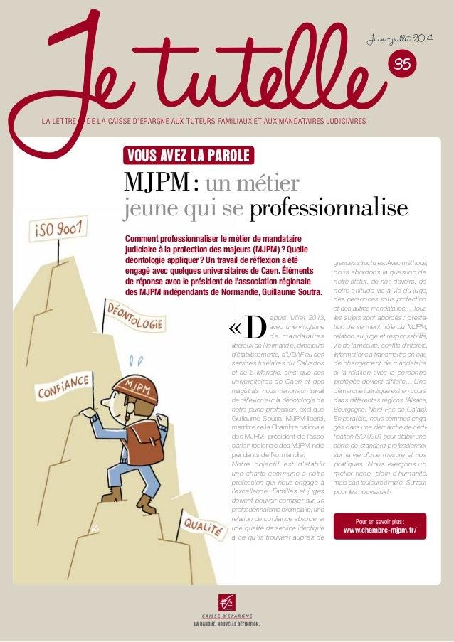 «D epuis juillet 2013, avec une vingtaine de mandataires libéraux de Normandie, directeurs d'établissements, d'UDAF ou des...