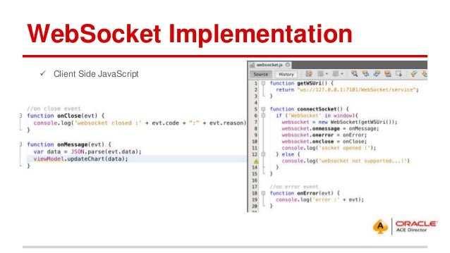 Oracle JET and WebSocket