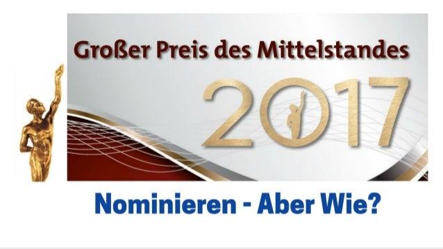 Jetzt nominieren! Tutorial 3.1