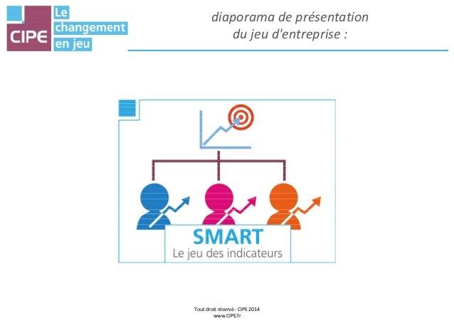 diaporama de présentation du jeu d'entreprise : Tout droit réservé - CIPE 2014 www.CIPE.fr