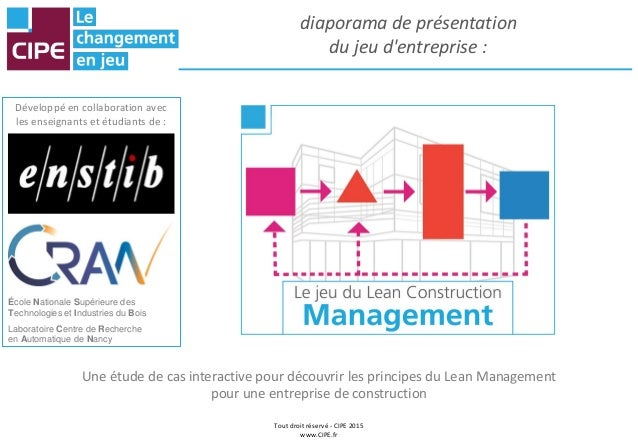 Jeu lean construction management 2017 - Origine du mot maison ...