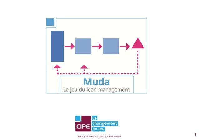 MUDA, le jeu du Lean® - CIPE, Tous Droits Réservés 1
