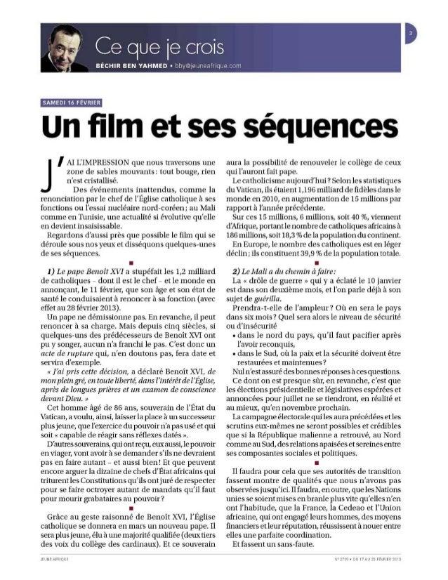 Jeune afrique n°2719 part 1 Slide 3