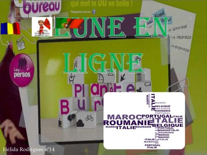 Jeune en ligne<br />Hélida Rodrigues nº14<br />