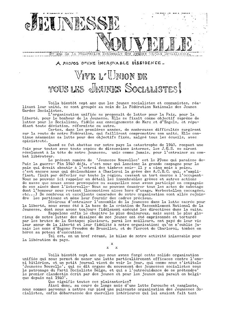 Jeunesse Nouvelle N°27 Juillet 1943