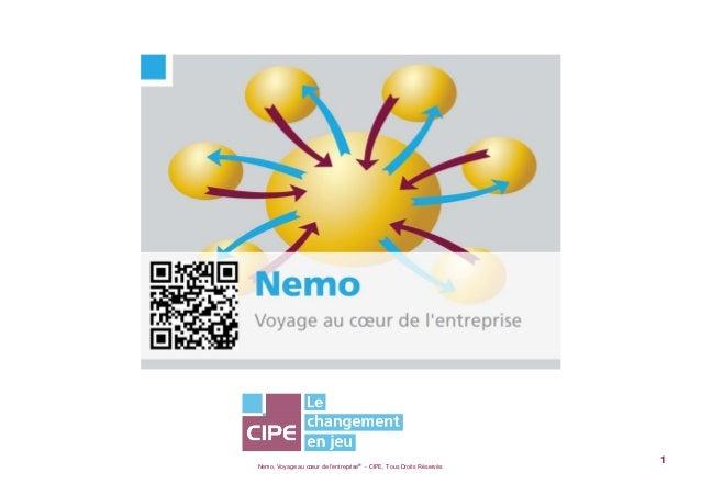 Nemo, Voyage au cœur de lentreprise® - CIPE, Tous Droits Réservés1