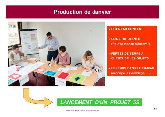 """Pencil, le Jeu des 5S® - CIPE, Tous Droits Réservés18Production de JanvierCLIENT MECONTENTUSINE """"BRUYANTE""""(""""tout le monde ..."""