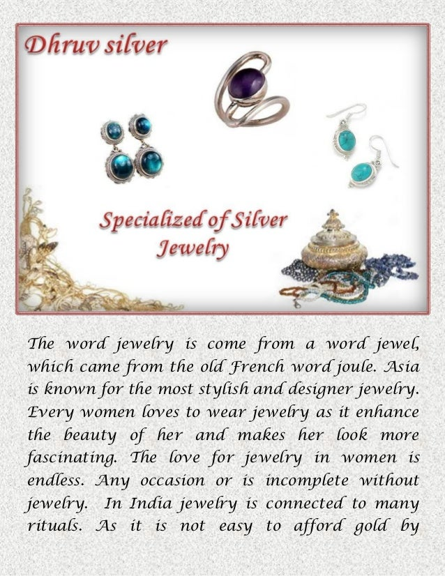 Sterling Silver Jewelry supplier in India