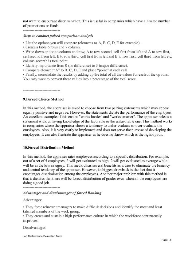 Jewelry Associate Performance Appraisal