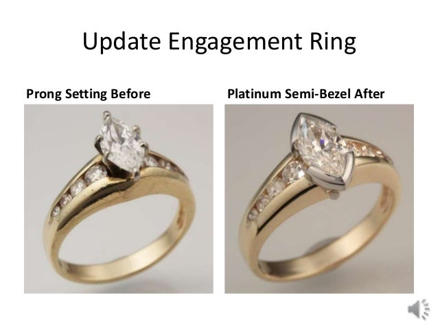 Redesigning a wedding ring before and after