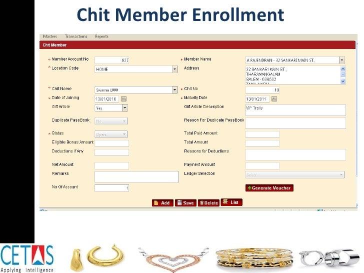 Chit Member Enrollment