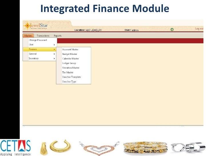 Integrated Finance Module