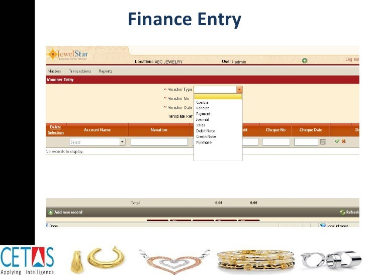 Finance Entry