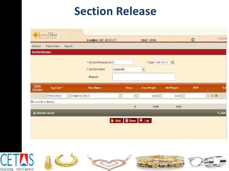 Section Release