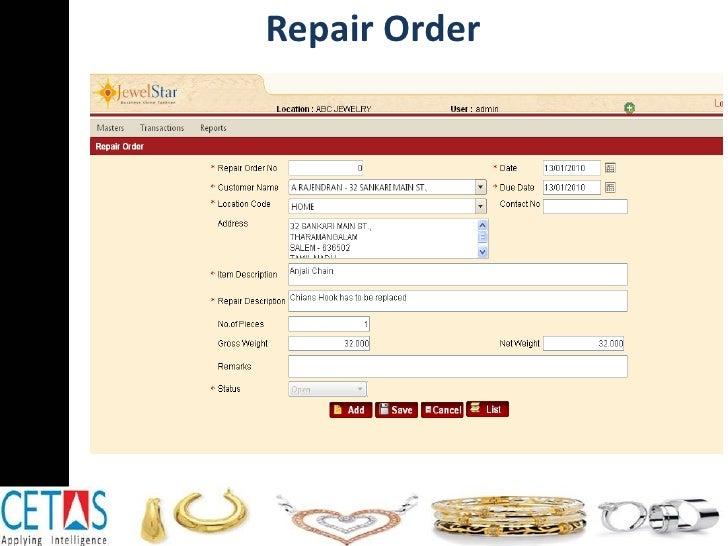 Repair Order