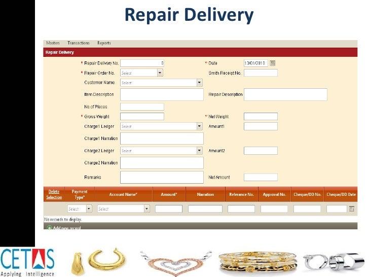Repair Delivery
